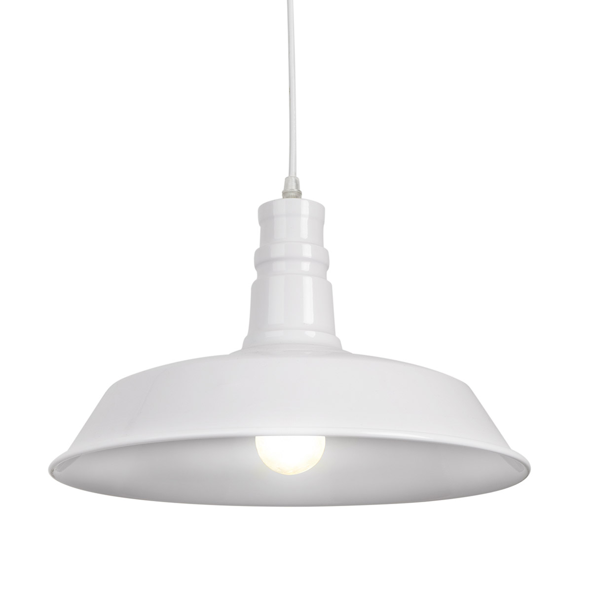 Ceiling lamp Factory metal, color White, industrial style, 30x35x35 cm