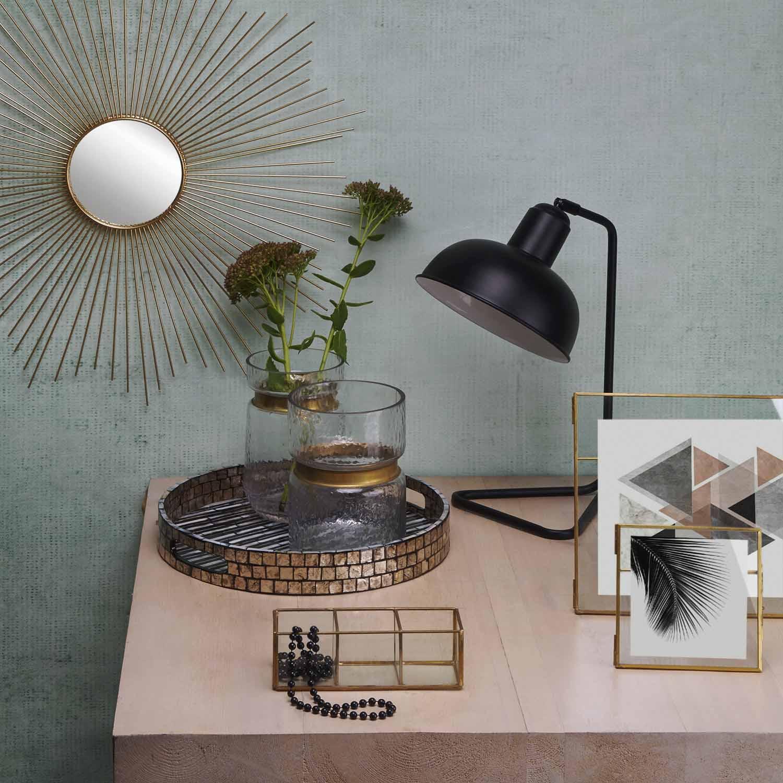 Table lamp Pixar metal, color black, retro air, 26x19x41 cm