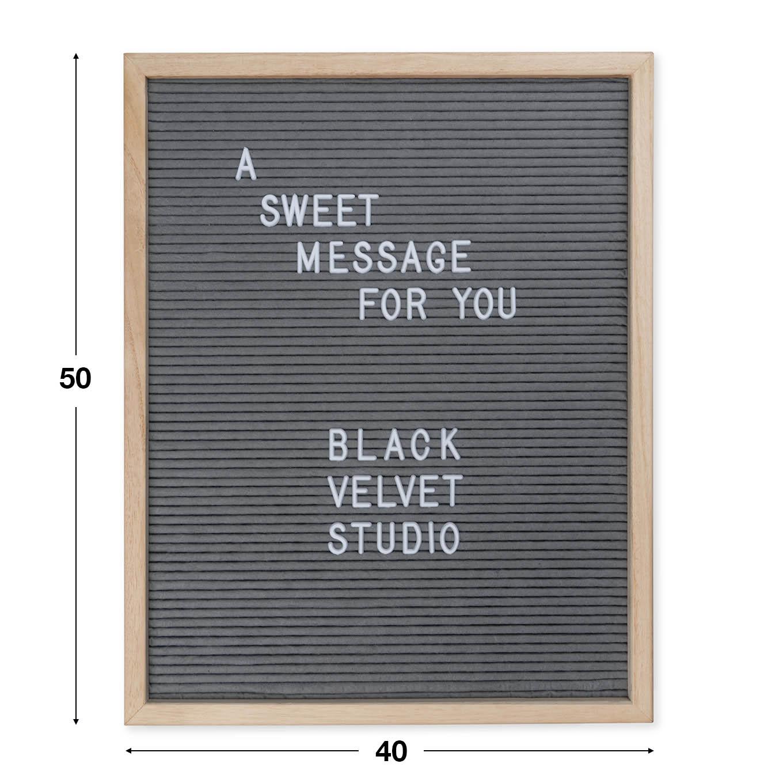 Tablero letras Word, madera y fieltro, color natural y gris, rectangular,149 letras, 50x40x3 cm