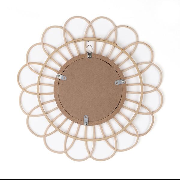 Espejo, Kahala ratán, color natural, Forma redonda