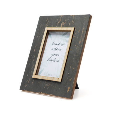 Frame, Old Grey painted MDF, color Gray and Natural