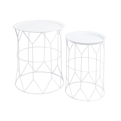 2 Tables set, Mr Smith metal, color White