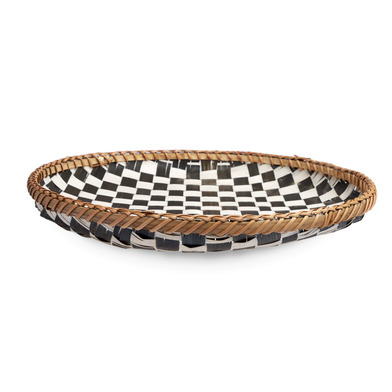 lack Velvet Studio Basket Damas Black White colour original and different design Bamboo 5 x 40 x 40