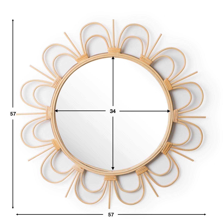 Spiegel Flor rund