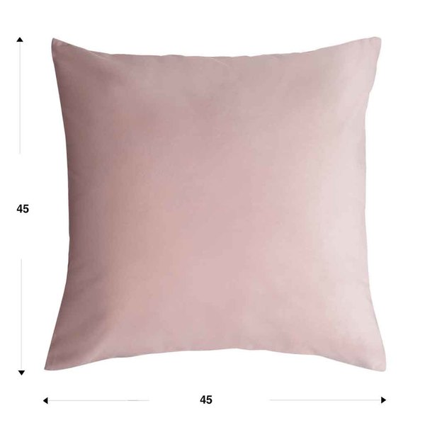Funda cojín Velvet 100% poliéster, color rosa