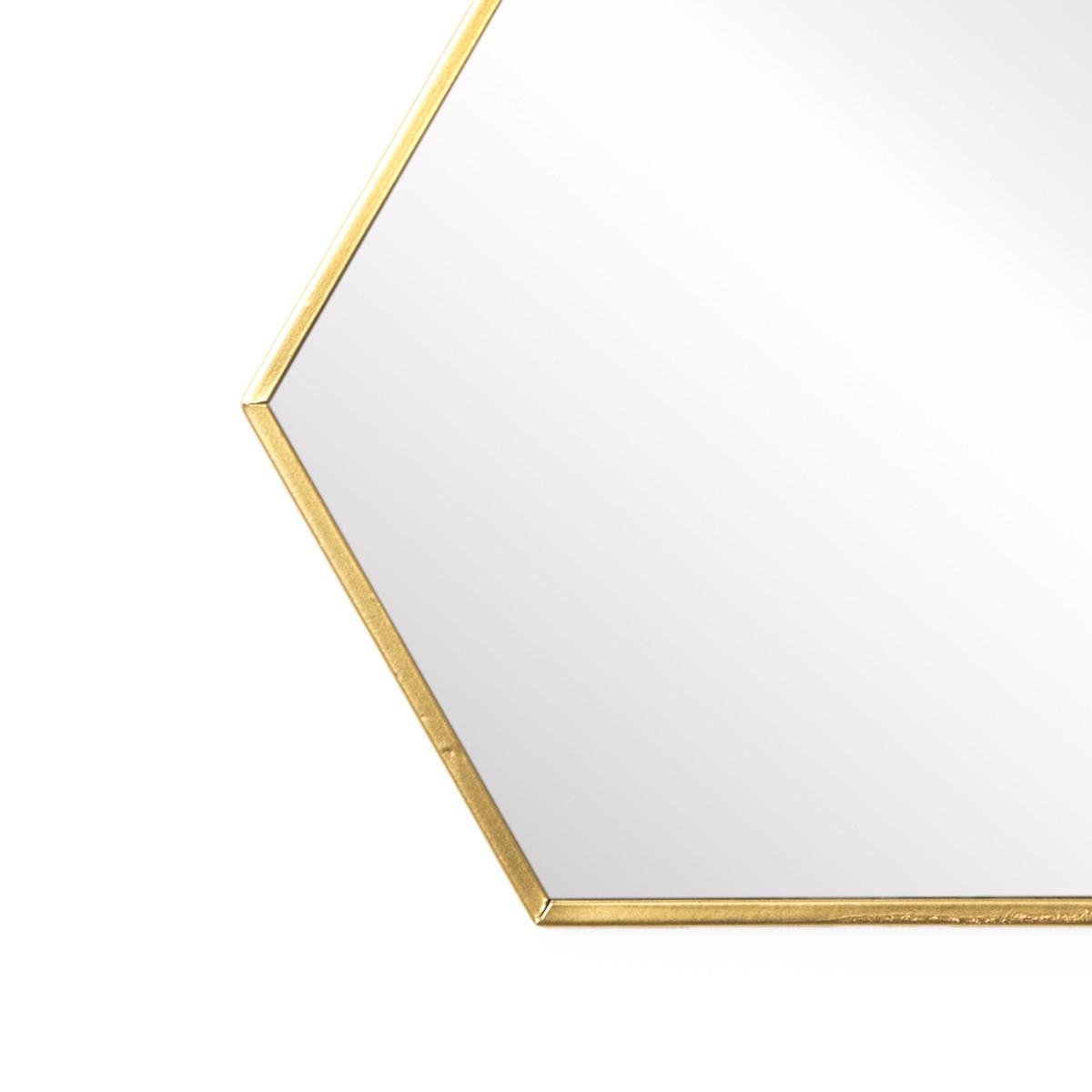 spejo pared de pared decorativo hexagonal Mirror, metálico, estilo étnico & boho chic, nórdico, boni