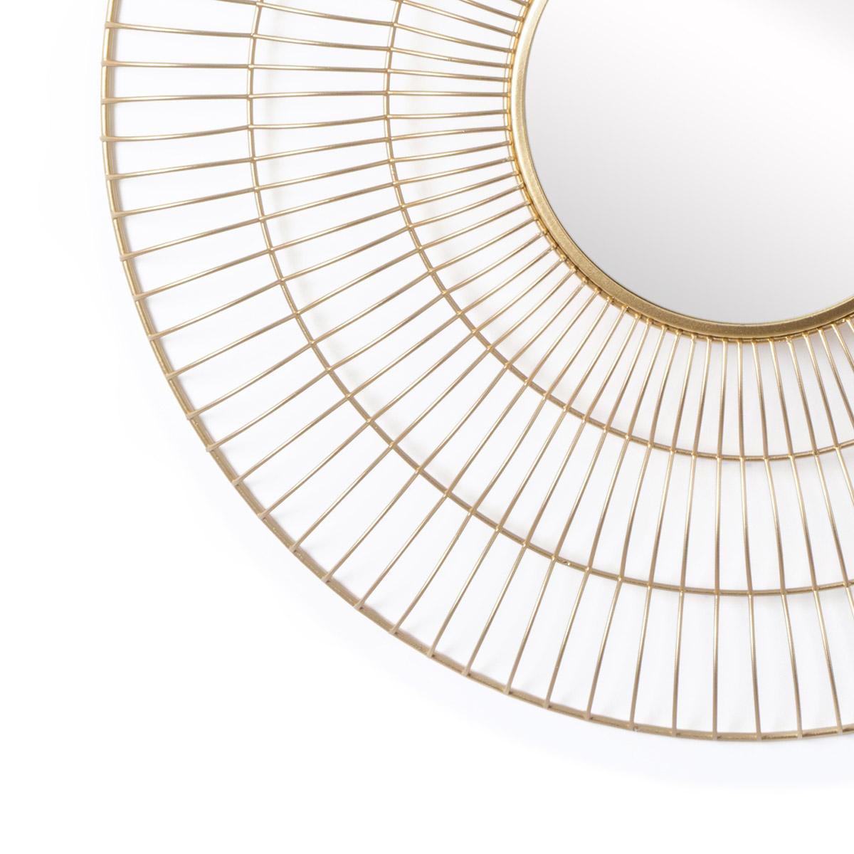 spejo de pared decorativo redondo Ring, metálico, rayas, estilo étnico & boho chic, nórdico, bonito