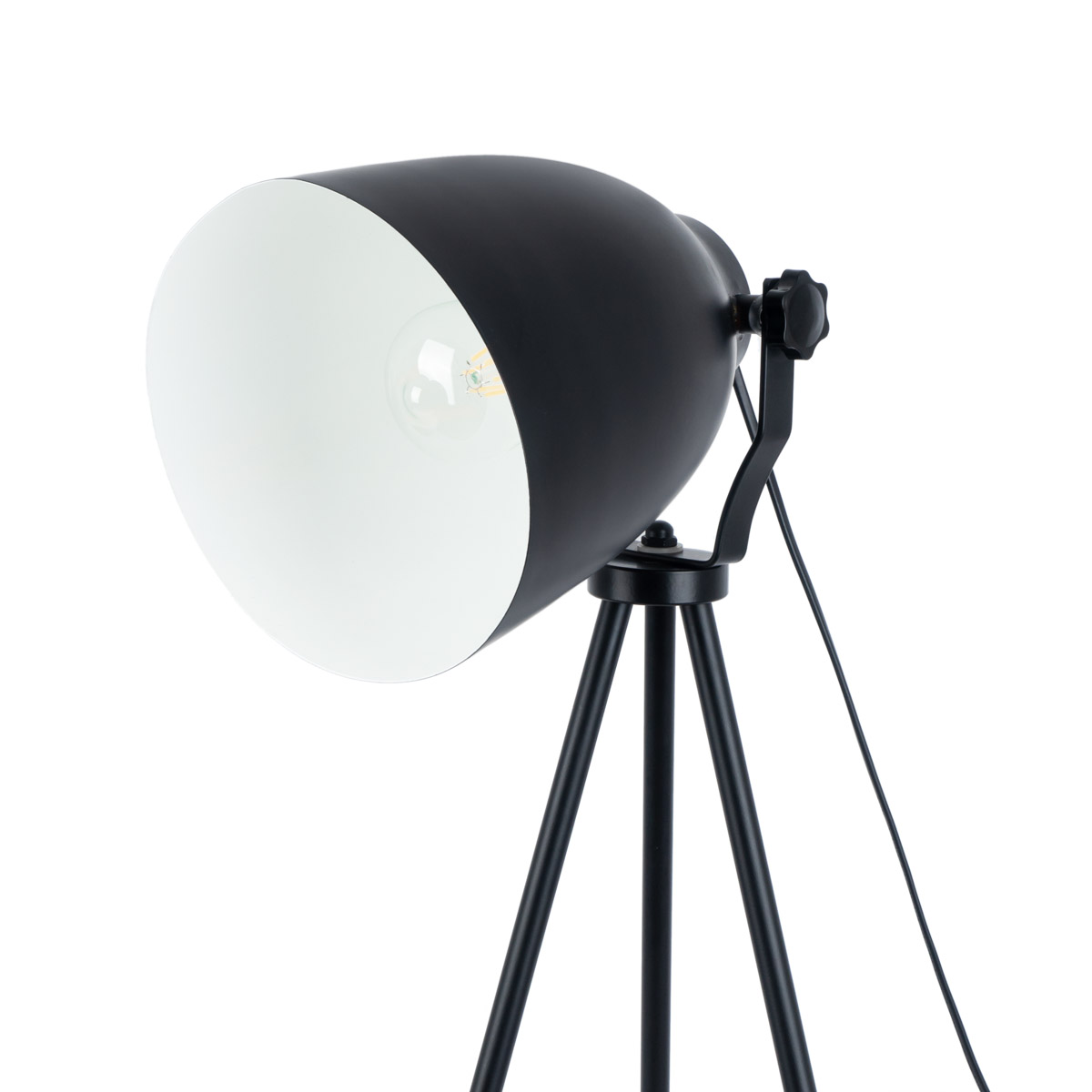 Floor lamp Click, metal, color black, 135x56x56 cm