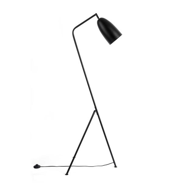 Lámpara pie Mr Smith metal, color negro, aire retro, 150x32x32 cm
