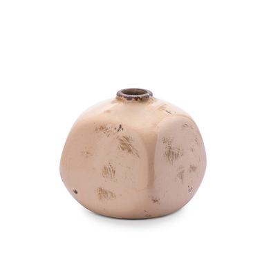 Jarrón Atenas, cerámica, color rosa, florero,10x10x10 cm