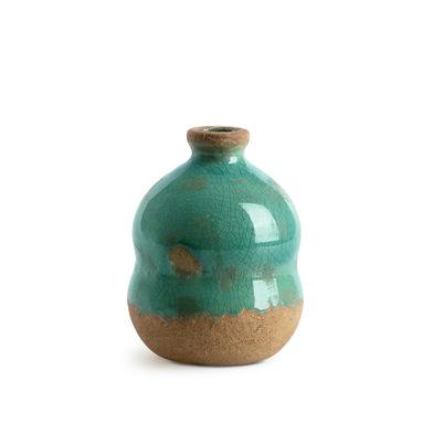 arrón Cántaro Botijo Cerámica Decorativo Color Verde Terracota – Florero Moderno Vintage para Hogar
