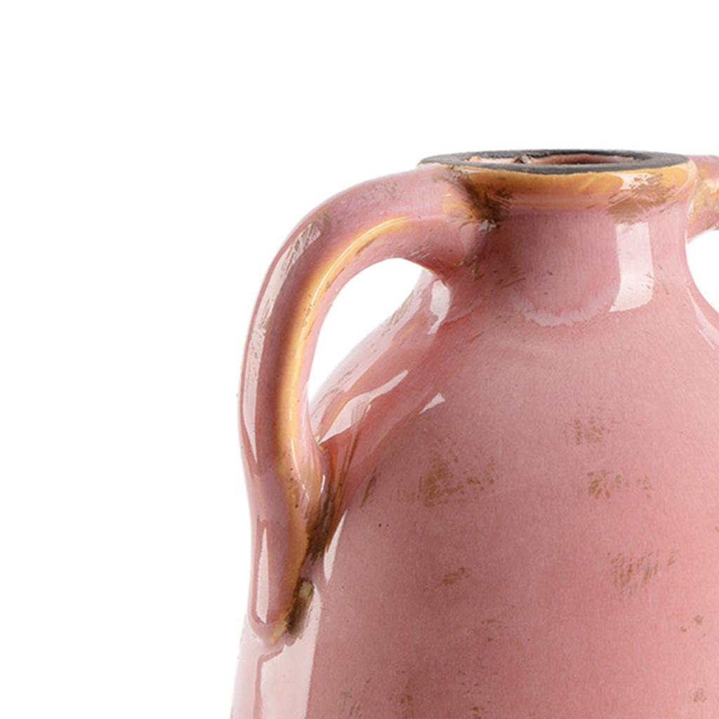ecorative Ceramic Vase Cántaro Botijo ??Pink - Modern Vintage Vase for Home Office Board Room Model