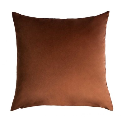 Cushion Cover Velvet, 100% polyester, color Brown, velvet,45x45x5 cm