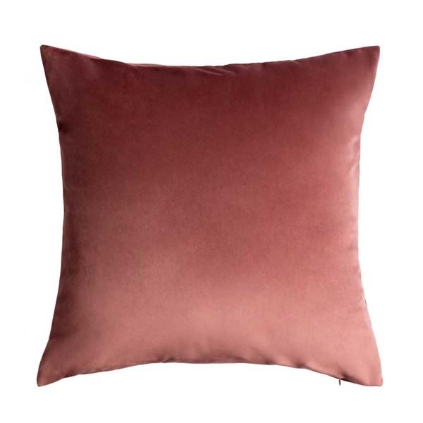 Funda cojín Velvet, 100% poliéster, color rosa, nude, maquillaje, 45x45 cm