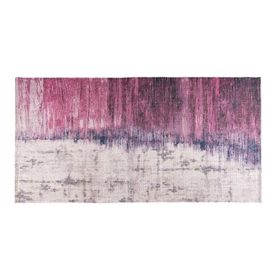 Rug Goa, 5% polyester and 25% cotton, color white and pink and blue and black, 1x75x150 cm