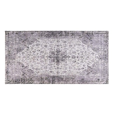 Rug Goa, 75% polyester and 25% cotton, color Gray, vintage print,1x75x150 cm