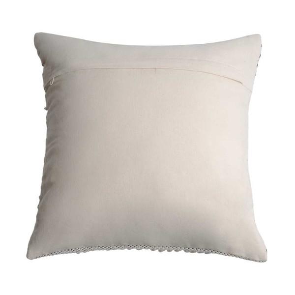 Funda cojín Cairo, 100% algodón, color blanco y negro, tejida a mano, étnica,45x45 cm