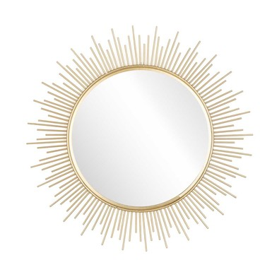 Mirror Sol, metal, color Golden, 40x40x1 cm