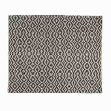 Rug Kenya 100% cotton, color black and beige