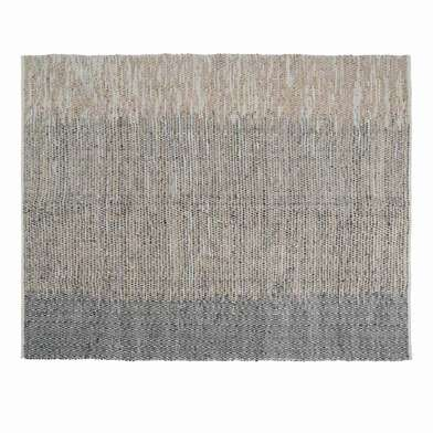 Rug Cairo 80% leather and 20% cotton, color beige and black