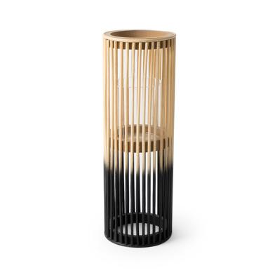 Black Velvet Studio Lantern Krabi Natural / Black colour Nordic style Bamboo 41x14x14 cm
