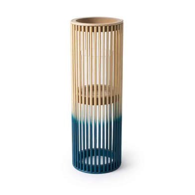 Black Velvet Studio Lantern Krabi Natural / Dark Blue colour Nordic style Bamboo 41x14x14 cm