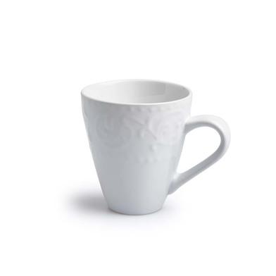 lack Velvet Studio Dinnerware set, 4 Cups set Avignon White colour His engraved on white brings weal