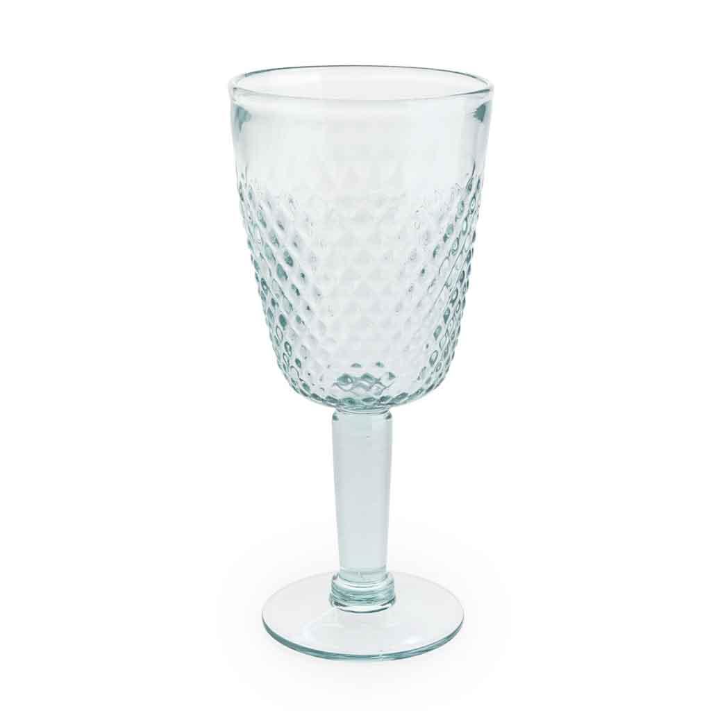 Copa Formentera vidrio, color azul turquesa