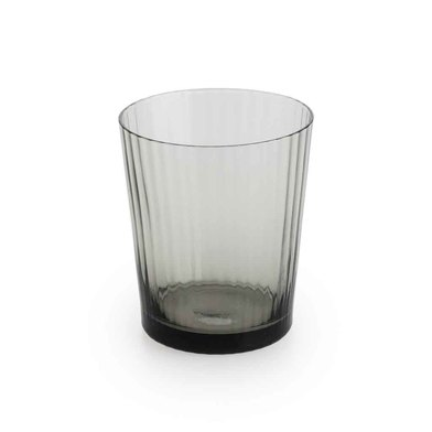 Set 4 tumblers Nuit glass, color Gray
