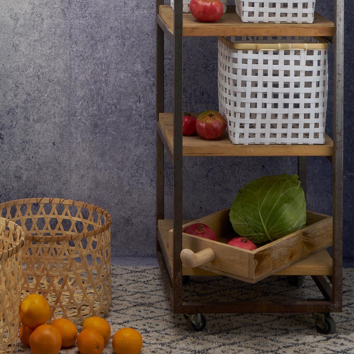 andeja Madera Mango Servir Brillante Color Blanco Brillante Natural Cuadrada - Ensalada Fruta Estilo