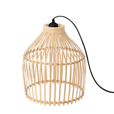 Floor lamp, Vietnam rattan, color natural