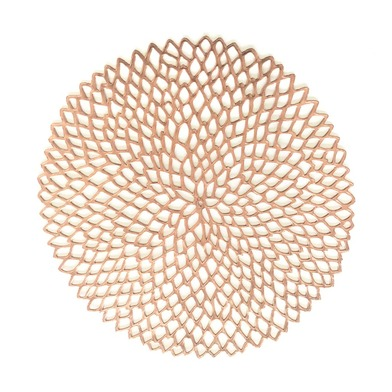 Set 2 individuales Copper, PVC, color cobre, 3x39x39 cm
