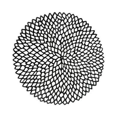 Set 2 individuales Black, PVC, color negro, 3x39x39 cm