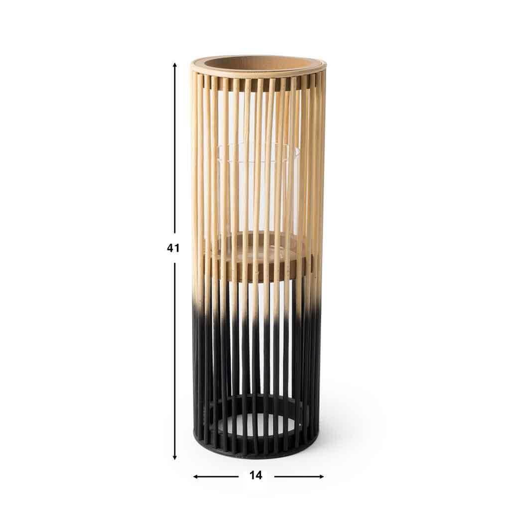 Farolillo Krabi bambú, color naturaly negro