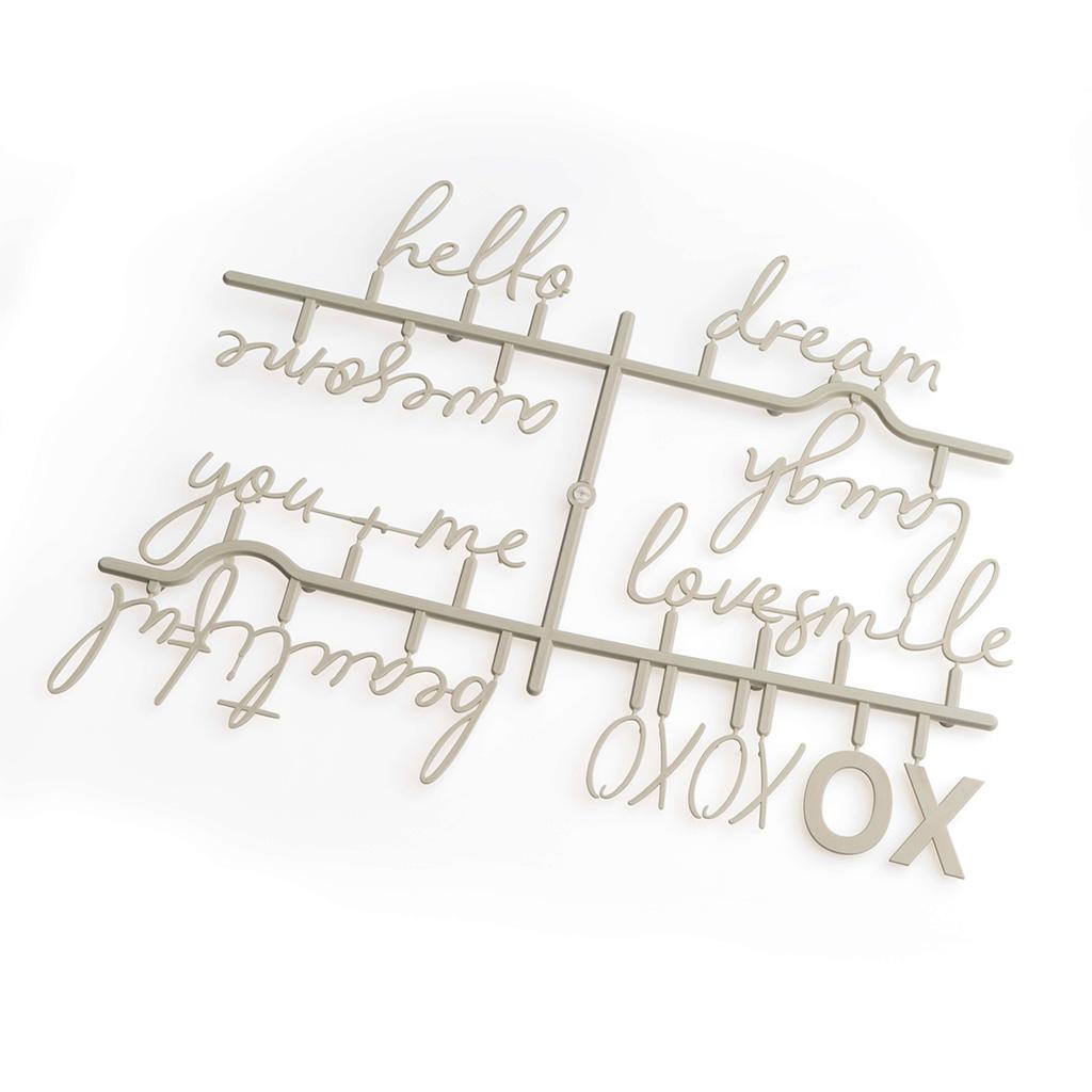PACK Letras Tablero Fieltro Intercambiables Letters Words - Alfabeto Plastico Retro Color Gris